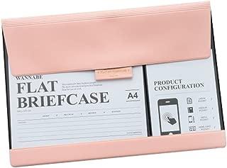 OLizee Stylish PU Leather Phone Screen Touchable File Folder Document Holder(Pink)