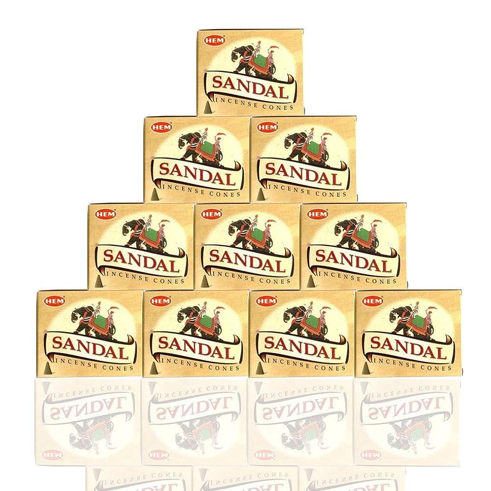 列車ギャロップラベルHEM Incense Cones: Sandalwood - 10 Packs of 10 = 100 Cones by Hem