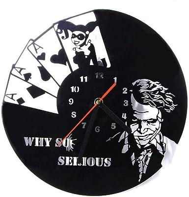 mebeaty Reloj nostálgico Vintage de Vinilo con Forma de ...