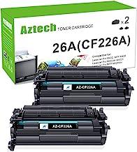 جایگزینی کارتریج تونر سازگار با آزتک برای HP 26A CF226A 26X CF226X (مشکی ، 2 بسته)