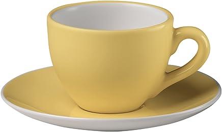 Preisvergleich für Bitossi Home BER1351 Espressotassen mit Unterteller, Sorbet-Linie, Zitrone, 6er Set