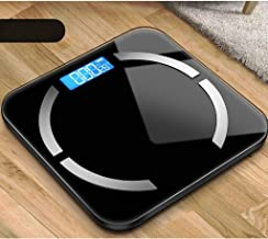 NYDZDM Electronic Scale Intelligent Body Fat Called Household Small Adult Precision Electronic Scales Compact Weight Scale Body Weight Loss Measurement Fat Female USB Charging (Color : Black)