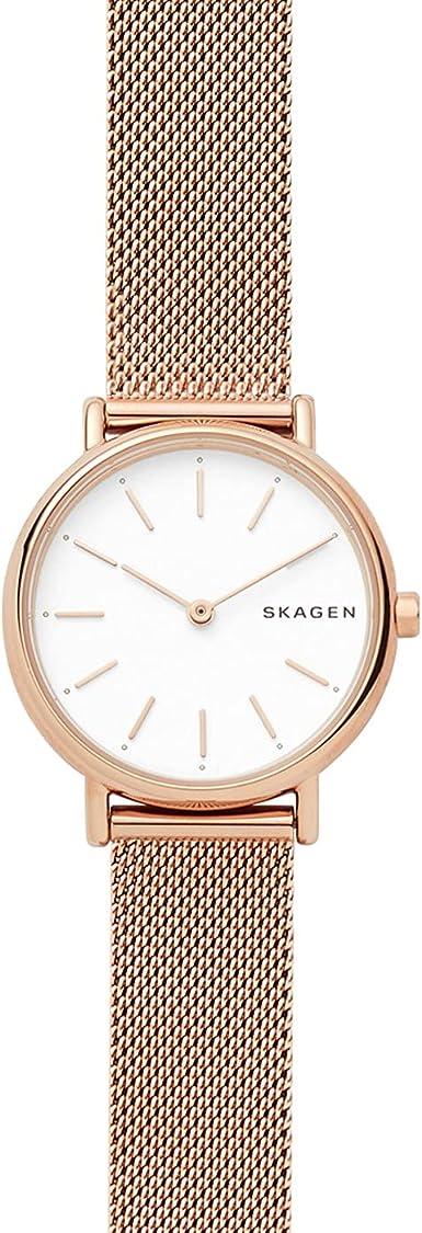 Skagen Reloj Analogico para Mujer de Cuarzo con Correa en Malla de Acero Inoxidable SKW2694