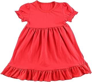 Wennikids Little Baby Girls' Short Sleeve Cotton Princess Dress