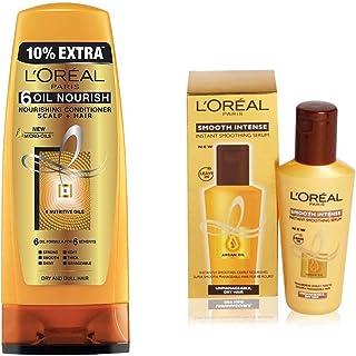 L'Oreal Paris 6 Oil Nourish Conditioner, 175ml (With 10% Extra) And L'Oreal Paris Smooth Intense Serum, 100ml