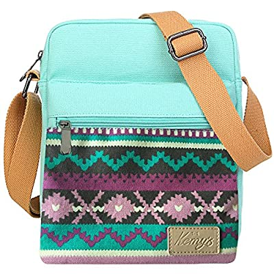 Kemy's Girls Tween Purses Set Small Crossbody Purse for Teen Girls Women Canvas Over Shoulder Messenger Bags for Traveling Easter Gifts, Teal Floral