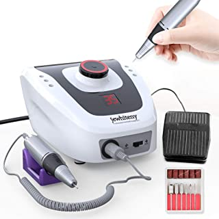 Professional Electric Nail Drill Machine 32W 35000RPM E-file Electric Nail File Grinder Polisher Kit Manicure Pedicure Drill for Acrylic Nail Tools for Gel Nails 100-110V