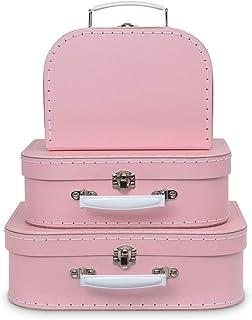 Jewelkeeper - Valises en Carton, Lot de 3 - Boîtes Cadeaux emboîtables pour Jouets, Anniversaires, Mariages, crèche, Burea...