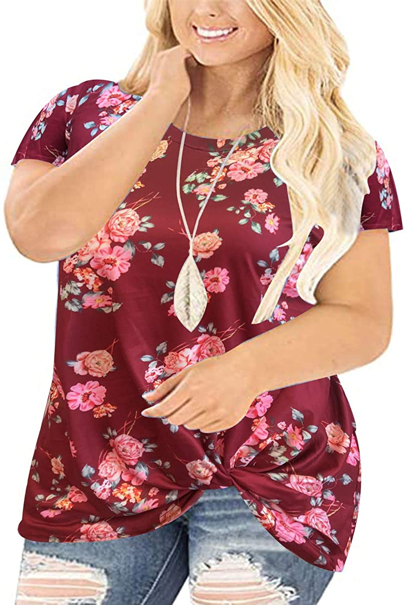 RITERA Plus Size Color Block Long Sleeve Shirts Crewneck Blouses Soft Tee Shirt Causl Tunic Sweatshirts XL-5XL