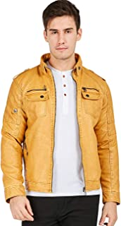 db9c449c3 Amazon.com: Yellows - Leather & Faux Leather / Jackets & Coats ...