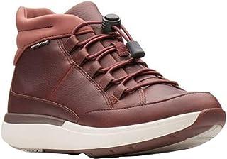 CLARKS Un Cruise Mid Womens Sneaker Boot Dark Tan Leather 6