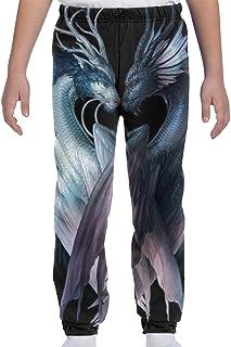 Adolescentes Chicos Niñas Pantalones de chándal Pantalones Deportivos Deportivos o Loungewear de Fondo, Dragón Yin y Yang