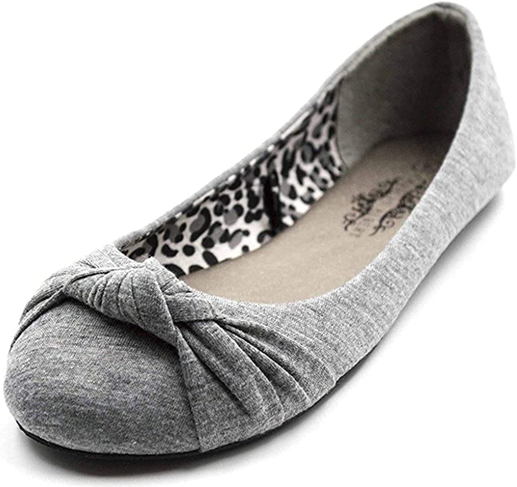 Charles Albert Ballet Flats for Max 56% OFF Knotted Women Canvas Front Roun Max 49% OFF