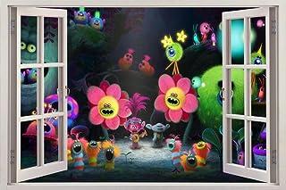 Trolls Movie 3D Window Decal Wall Sticker Home Decor Art Mural H668, Huge