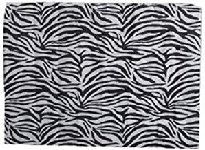 Travel Pillow Cover - Black and White Zebra Design
