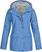 Opinionated Waterproof Lightweight Rain Jacket Active Outdoor Hooded Raincoat for Women