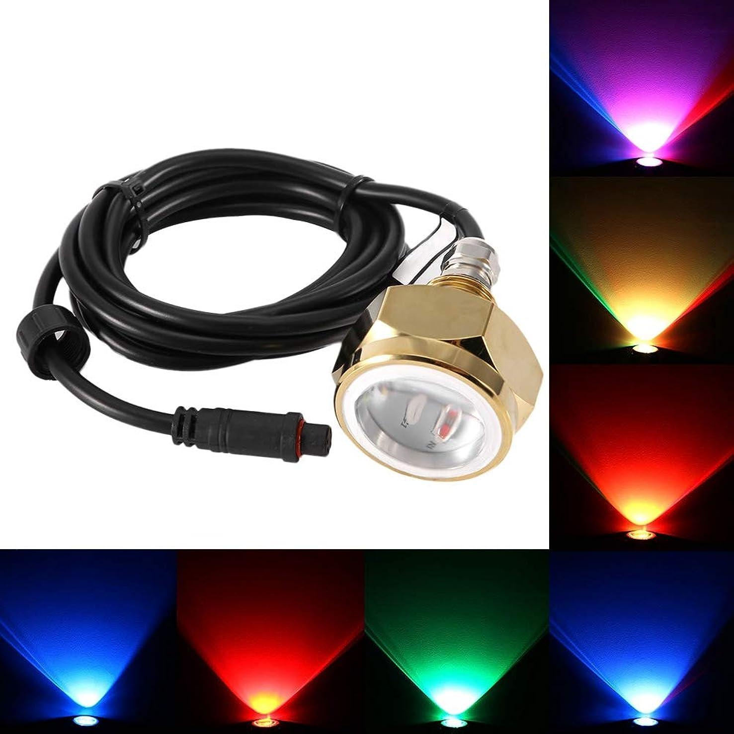 コスト溶かす実証するYosooo ボート 水中ライト 27W 9 LED RGB カラフル 海洋ヨットライト 水中 防水 ドレインランプ DC11-28V