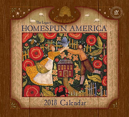 Legacy Publishing Group 2018 12-Month Wall Calendar, Homespun America
