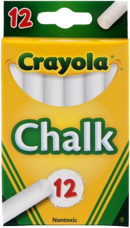 Crayola Recommended White Chalk Gorgeous Ea 12