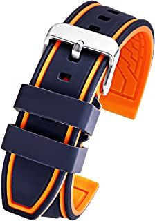 Carty Silicone Watch Strap Replacement Sport Rubber Diver Waterproof - 20mm 22mm 24mm 26mm Watch Band