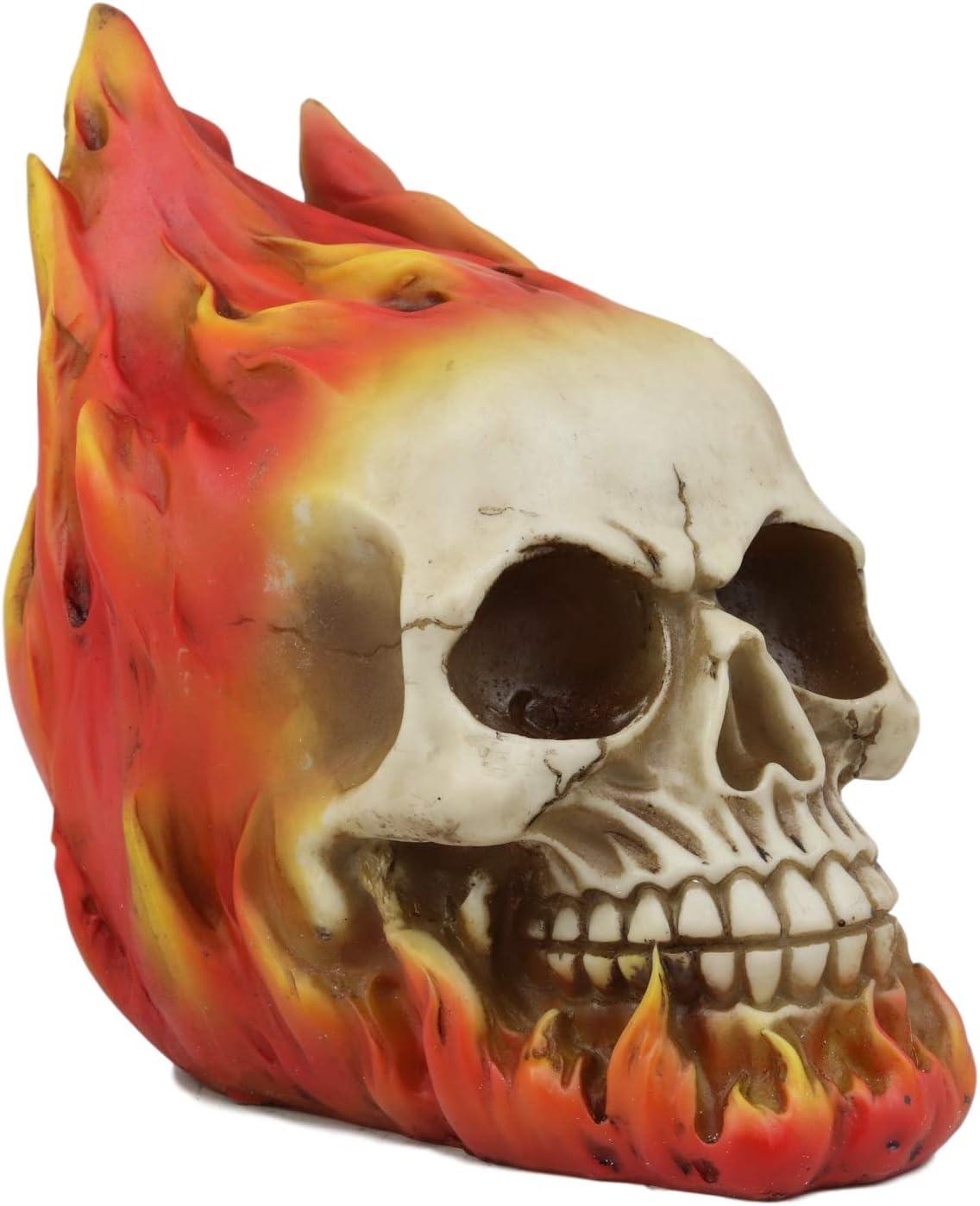 online shop Ebros Max 47% OFF Gift Flaming Fire Hot Rod Burnin Statue Inferno Hell Skull
