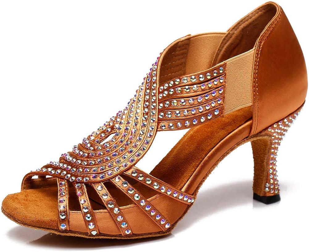 HIPPOSEUS Women's Latin Dance Super special price Our shop most popular Shoes B Ballroom Salsa Lightweight
