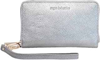 Women's Zip Phone Wallet by Rogue Industries - Rogue Wallet Yarmouth Zip Phone Wallet - Vegan Leather Wallet with RFID Shield - Silver