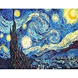 XPCARE DIY 5D Diamond Painting Kit Full Drill Starry Sky Round Diamond Painting for Home Wall Decor(12X16Inch), StarrySky