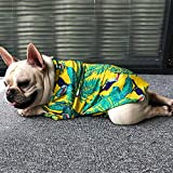 LUCKSTAR Dog Hawaiian T-Shirt, Dog Summer Apparel Clothes, Puppy Cats Breeze Camp Outfits, Pet Luau Costumes for French Bulldog Pug