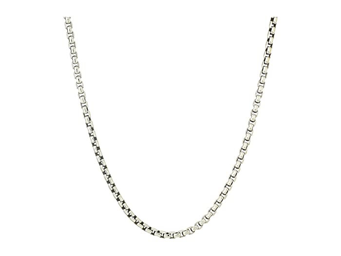 John Hardy  3.7mm Box Chain Necklace Size 26 (Silver) Necklace