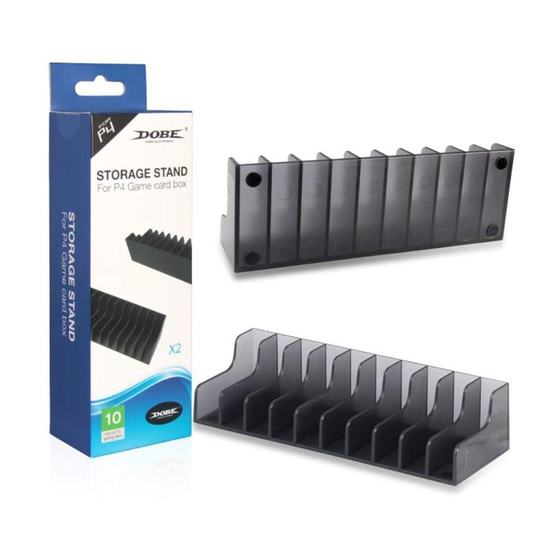 Para Sony Playstation 4 PS4 PS 4 juego de cartas Caja de almacenamiento titular del stand para discos CD o tarjeta 20pcs Soporte titulares de (negro): Amazon.es: Bricolaje y herramientas