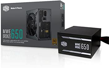Cooler Master MWE 650 Bronze, 80+ Bronze Certified 650W Power Supply, 3 Year Warranty