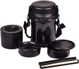パール金属 保温 弁当箱 茶碗 約 3 杯分 ダブルステンレス ランチジャー 1800 ブラック エコランチ HB-254