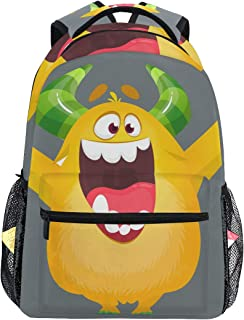 Cartoon Furry Monster Fashion Unisex Backpack Schoolbag Collage Bags Casual Camping Travel Outdoor Bag Daypack for Men Women Adult Teenagers Boys Girls Student