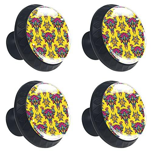 FURINKAZAN Manija Armario de cocina Perillas de puerta de cajón Armario Tirador de la manija de la ropa Gancho moderno Simple Chino Floral Ethinc Patrón