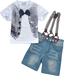 Hopscotch Baby Boys Polycotton T-Shirt and Short Set in White Color for Ages 5-6 Years