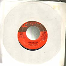 love letters / gonna get along without ya' now 45 rpm single