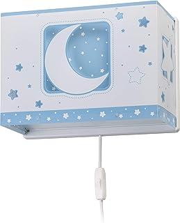 Dalber Moon Light Lámpara Aplique Pared infantil Luna y Estrellas Moonlight azul, 60 W
