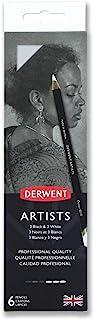 Derwent Artists Black & White Pencils, Set of 6 Art Pencils (2302342)