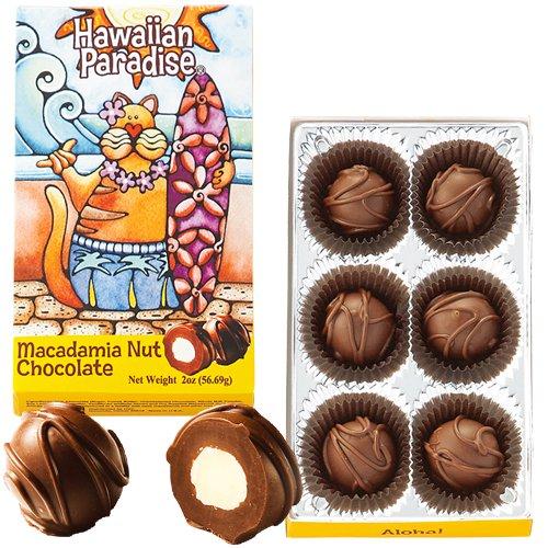 ハワイアンパラダイス マカダミアナッツチョコ 6粒入 1箱