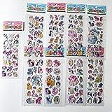 9 Hojas de Pegatinas de Unicornio Diferentes de Dibujos Animados de Juguete de Anime para niños Pegatinas Bonitas de Caballo para DIY Pegatinas hinchables para monopatín de teléfono portátil