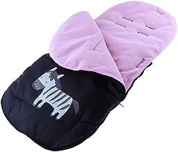 Saco de invierno dormir térmico para carrito cochecitos silla de bebé universal abrigo polar, Cubrepiernas Impermeable para Bebé (Rosado)