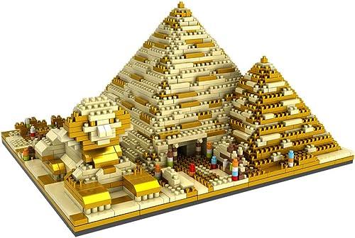 cómodamente Wumudidi Puzzle 3D de la pirámide de de de Bricolaje, Bloques de construcción de Juguetes intelectuales Modelo de Ladrillos educativos 1450PCS (9  7   5 )  estilo clásico