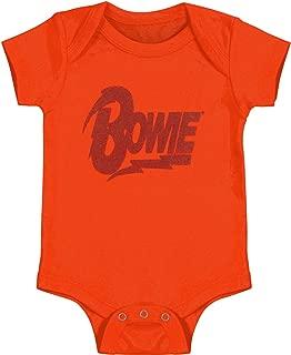David Bowie Boys' Diamond Dogs Logo Bodysuit Orange