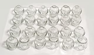 Glass Fire Cupping Jars with FINGER GRIPS - #3 (Outer Dia. 2.2