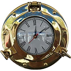 Nagina International Brass Deluxe Class Porthole Quartz Clock 8