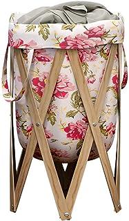 Maracos Paniers de buanderie - blanchisserie panier, grand panier à linge épais panier de blanchisserie en bois pliant vêt...