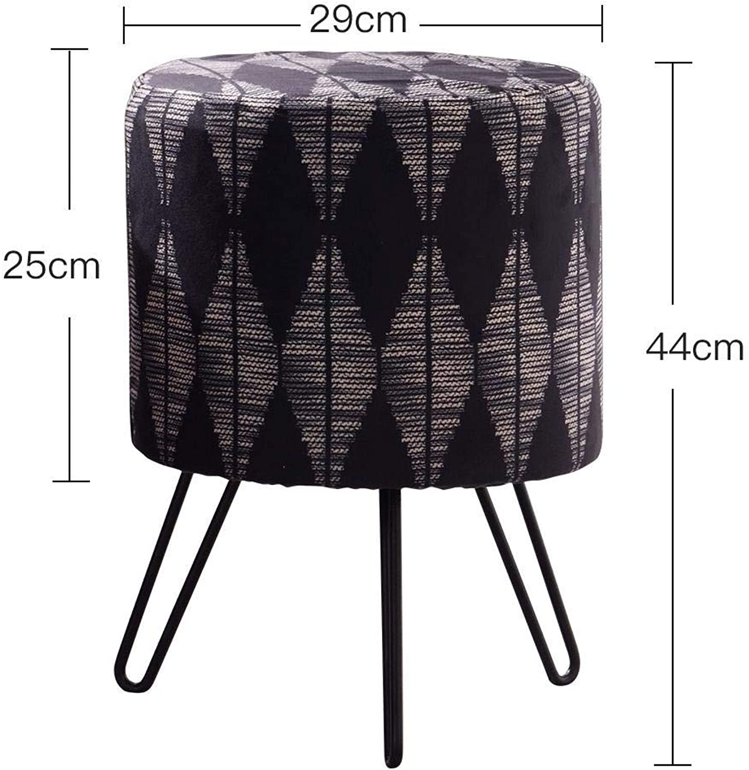 RMJAI Small seat Sofa Stool Creative Dressing Stool Modern Small Round Home Makeup Stool Footstool (color   A)
