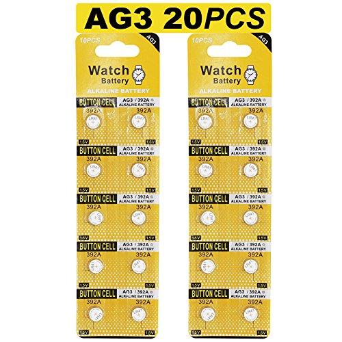20 Stück AG3 LR41 1.5V Alkaline Knopfzelle Batterien ohne Quecksilber