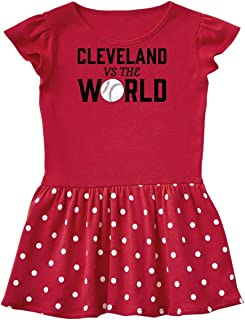 inktastic Cleveland Vs. The World with Baseball Toddler Dress